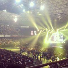 Esto fue la previa.... #concert #Masivo #DeportistasPorUnSueño en #movistararena #Croni_k #Jadiel #DaddyYankee #Live #Show