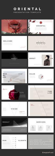 Modern Keynote Presentation Template #simple #minimal #black #business #marketing #portfolio #oriental