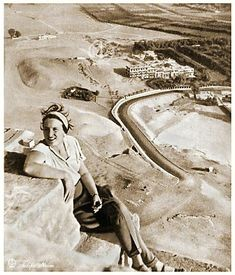 A Tourist On The Top Of The Pyramid 1930's