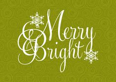 It Works For Bobbi!: Merry And Bright 5X7 Free Printables!
