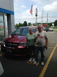 Mr. and Mrs. Gierhart are pictured with the new #2014 #Dodge #Caravan! We hope you enjoy it and come back to see us!