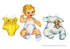 Bonecas de Papel: bebê