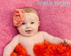 Raspberry and Orange Newborn and Baby Pettiskirt Little Girl Headbands, Baby Hair Accessories, Newborn Girl Outfits, Raspberry, Little Girls, Orange, Clothes, Outfits, Toddler Girls
