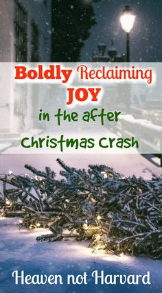 In the days after Christmas, the excitement of anticipation fades. But I can make a choice to reclaim joy amidst the chaos, finding peace & rest for a new year. #Parenting #JOY #PEACE #AfterChristmas via @https://www.pinterest.com/heavennotharvar/