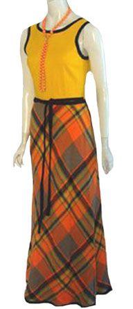Vintage Arpeja Wrap Around Maxi Dress Plaid Skirt Low Back 70s Fashion, Fashion Models, Vintage Fashion, Vintage Beauty, Fashion History, Vintage Gowns, Vintage Outfits, Vintage Clothing, 1970s Clothing