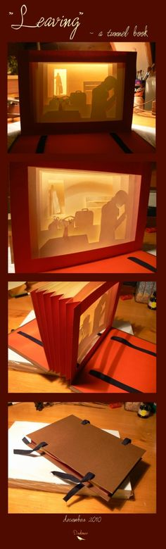 """tunnel book """"leaving"""" #story #album #paper #layers"""