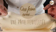 Que faire avec une pâte feuilletée ? // Facile et rapide à garnir, on trouve souvent une pâte feuilletée dans notre frigo. Découvrez les 7 types de recettes à réaliser avec cette préparation ! ==> http://www.ptitchef.com/dossiers/recettes/que-faire-avec-une-pate-feuilletee-aid-964  #ptitchef #cuisine #recette #cook #cooking #recipe #food #pate #feuilletee #roule #croute #tarte #tourte #palmier #friand #viennoiserie