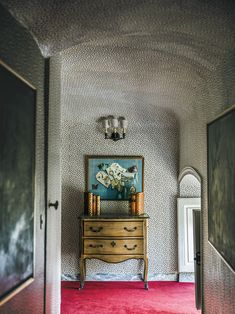 In a hallway that leads to the winter rooms of the former antiques dealer Jean-Louis Tapiau's grand house, Château d'Aunoy, a… Provence Style, Entry Hallway, Foyer, Grand Homes, New Energy, Stairways, Pattern Art, Home Decor Inspiration, Ny Times