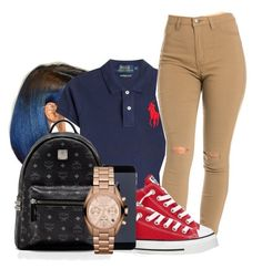 """Contest¡¡"" by jalay ❤ liked on Polyvore featuring Polo Ralph Lauren, Converse, MCM and Michael Kors"