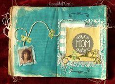 Libro alterato http://happymelscrap.blogspot.it/2015/09/older-book-mom.html