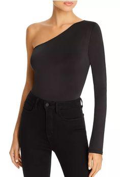 WAYF One-Shoulder Bodysuit Women - Bloomingdale's Bodysuit Blouse, Black Bodysuit, Soft Fabrics, One Shoulder, Feminine, Sleeves, Collection, Shopping, Tops