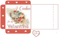 Free-printable Valentines Day Cookie Wrap and 7 links to pretty Valentine Cookie Recipes