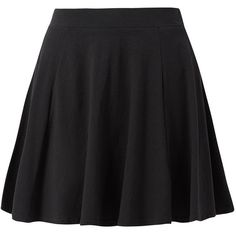 Black Skater Mini Skirt ($5.71) ❤ liked on Polyvore featuring skirts, mini skirts, bottoms, elastic waist mini skirt, flared skater skirt, flare skirt, ruffle skirt and short flared skirts