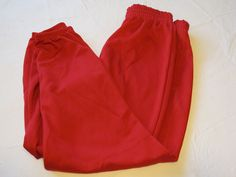 Alleson Athletic Adult L baseball softball Pull up Pant 1 pair red NOS NWOT #AllesonAthletic