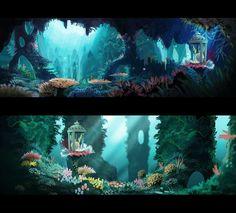 Concept art for Rayman Legends - Meryl Franck Level Design, Bg Design, Game Design, 2d Game Art, 2d Art, Game Background, Animation Background, Environment Concept Art, Environment Design