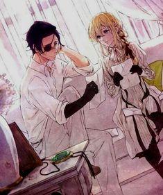 Violet Evergarden and Major Gilbert Sad Anime, Anime Kawaii, Anime Love, Violet Evergarden Gilbert, Manga Romance, Violet Evergreen, Violet Evergarden Anime, Bd Art, Anime Lindo