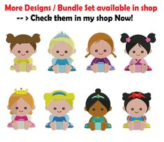 ******************************* BUY MORE TO SAVE MORE! $2 OFF $10 PURCHASE! CODE: 2OFF10 ******************************* 4 x 4 Baby Mulan Embroidery