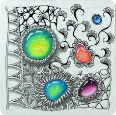 Zentangle-Gems - Wunderschöne Edelsteine!   Freude mit Zentangle