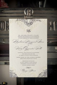 Cosima Wedding Invitation for The Pressroom and Co by http://www.pressroomandco.com/atelier-isabey/