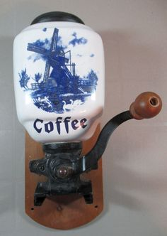 Antique Quot Brighton Quot Wall Mount Cast Iron Coffee Grinder