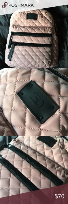 Gorgeous New Steve Madden Blush Benvoy Backpack Brand new with tag Steve Madden Blush Benvoy Quilted backpack! Clean & Authentic! Zippers and logo are matte black. Backpack color is a Blush pink and full size not mini! Will ship same day! This item is FIRM in price. Steve Madden Bags Backpacks