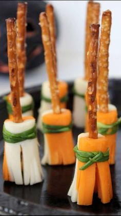 #LIKE Broomstick Snacks   Easy Halloween Party Snacks Make sure to follow cause we post alot of food recipes and DIY  we post Food and drinks  gifts animals and pets and sometimes art and of course Diy and crafts films  music  garden  hair and beauty and make up  health and fitness and yes we do post women's fashion sometimes  and even wedding ideas  travel and sport  science and nature  products and photography  outdoors and indoors  men's fashion too  postersand illustration  funny and…