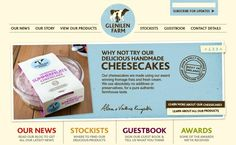 Clean, effective site design. And the cheesecakes sound delicious too.