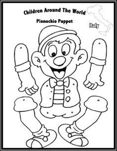 10 En Iyi Pinokyo Görüntüsü Pinocchio Puppets Ve Coloring Pages