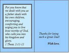 Need a Sunday School lesson for Fathers Day? Find a Father's Day Sunday School lesson for Youth at www.Sunday-School-Center.com! Make a Father's Day Card!