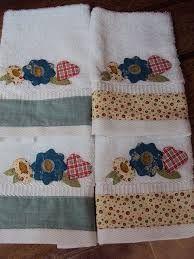 Resultado de imagen de toalha apliques patchwork