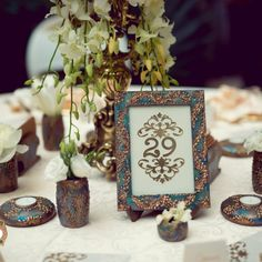 Royalty - a truly royal collection, combines beautiful shades of green with… Gold Wedding Decorations, Table Decorations, Green Wedding, Shades Of Green, Event Design, Wedding Designs, Royalty, Hand Painted, Weddings