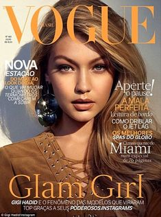 Gigi Hadid puts on a sultry pout for sexy Vogue Brasil magazine cover #dailymail