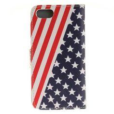Etui iphone 7,housse folio drapeau USA pour iphone 7 Ipn_cas730150