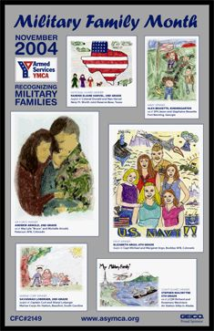 Military Family Month 2004 Poster