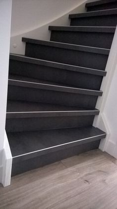 Winder Stairs, Happy New Home, Pvc Flooring, Stair Storage, Basement Stairs, Stairway To Heaven, Stair Railing, Basement Remodeling, Smart Home