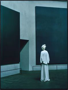 "Tilda Swinton by Tim Walker. ""The Surreal World"" W Magazine. (Rothko Chapel)"