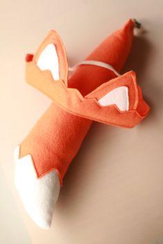 Kid's Animal Costume Orange Fox Tail & Ears by Whimsywerks