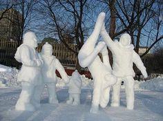 Amazing Snow Sculptures