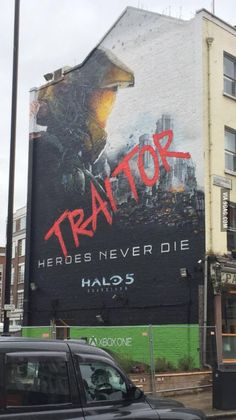 Post with 2219 votes and 1532286 views. Halo 5 London Mural - 'traitor' is now up! Halo 5, Halo Game, Cortana Halo, Mega Blocks, All Video Games, Name Games, Red Vs Blue, Sci Fi Fantasy, Fnaf