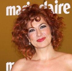 Pilar Jurado Short Red Curly Hair