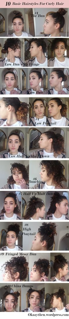 10 easy, cute hairstyles for short naturally curly hair - perfect for back to school!