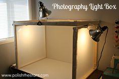 Polish The Stars: Photography Light Box {tutorial} Object Photography, Photography Camera, Video Photography, Light Photography, Photography Tutorials, Product Photography, Creative Photography, Photography Ideas, Photo Craft