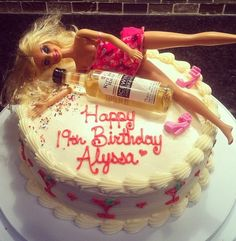 DRUNKEN BARBIE cake
