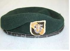 5th Special Forces Group. The Green Beret is the only headgear that is an AWARD.