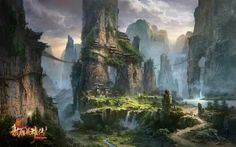 Fantasy Worlds by Ming Fan - this could be right out of a fantasy book. Better than Tolkien, great scenes.