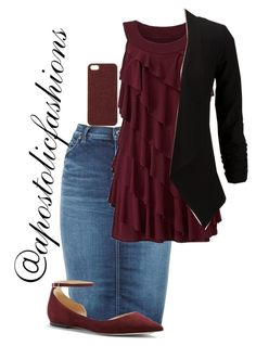"""""""Apostolic Fashions #1340"""" by apostolicfashions ❤ liked on Polyvore featuring Diesel, Jimmy Choo and Scotch & Soda"""