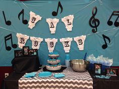 Rock n roll baby shower