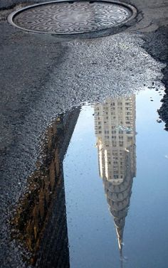 Reflections of Chrysler Building, NY