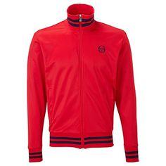 Sergio Tacchini Mens Retro Full Zip Tracksuit Top: Amazon.co.uk: Clothing