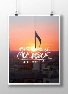 Fête de la musique by Marine WEIL, via Behance